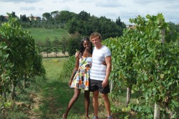 Mario and I spent 16 euros at the vineyard after tasting the wines