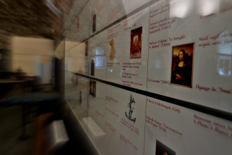 The Leonardo da Vinci Museum was well detailed in English, German and Italian